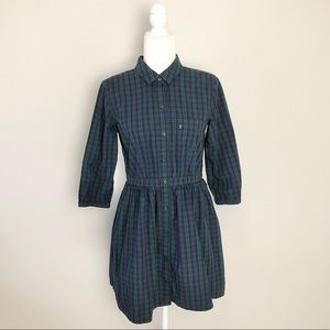 Levi's Plaid Shirt Dress w/ Pockets